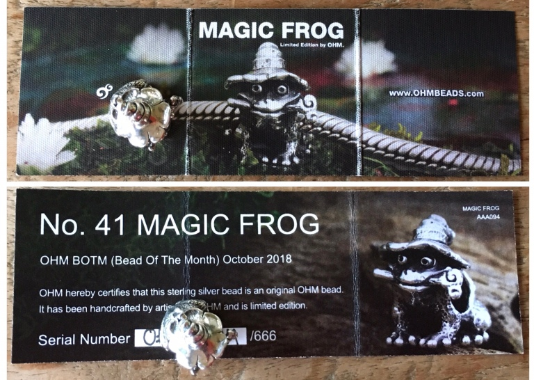 Ohm beads Magic Frog & Lilypad – Trudy's charms 'n beads